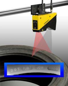 The Cognex DS1000 3D sensor reads embossed or raised characters