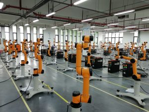 Image of AUBO-i5 Collaborative Robot - factory environment