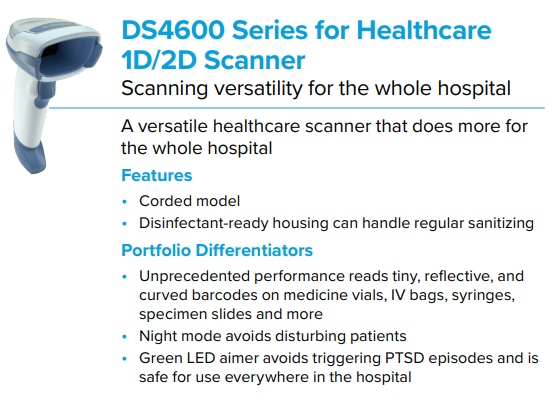 DS4600 Series for Healthcare Scanner