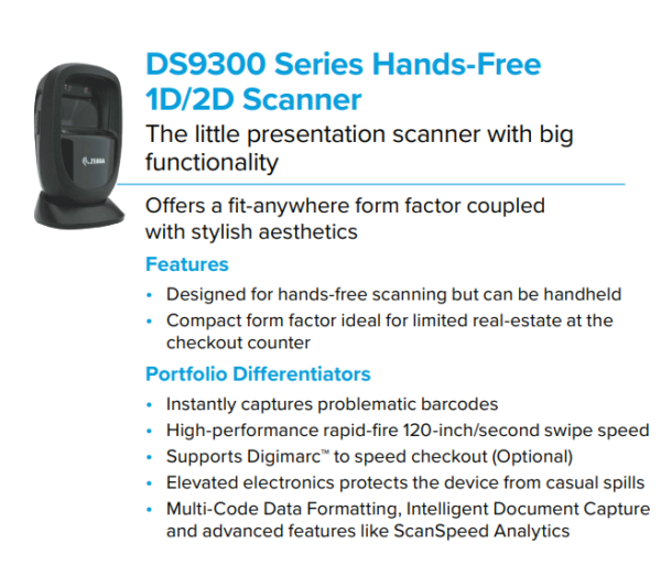 DS9300 Series Hands-Free Scanner