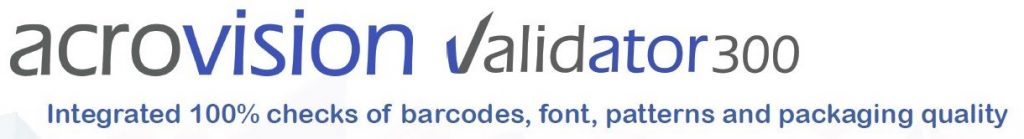 Validator 300 - Integrated 100% checks of barcodes, font, patterns and packaging quality
