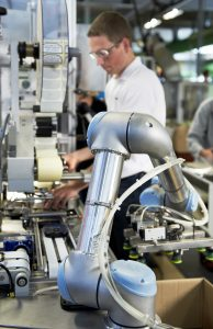 Collaborative robot in factory setting